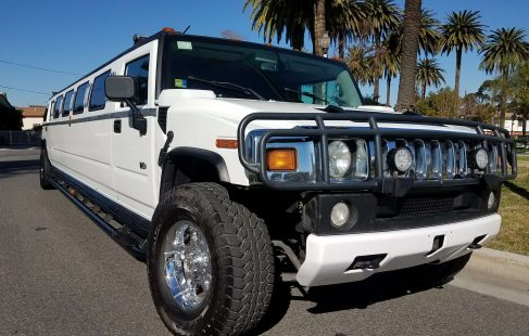 2003 white 180-inch hummer h2 limousine for sale