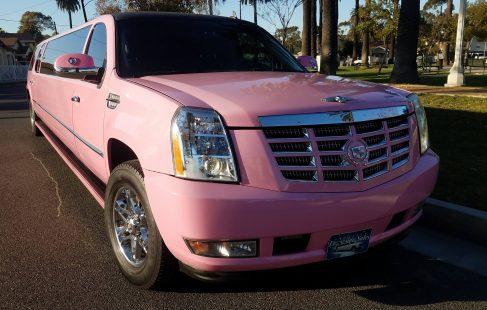2007 pink 140-inch gmc yukon xl limousine for sale