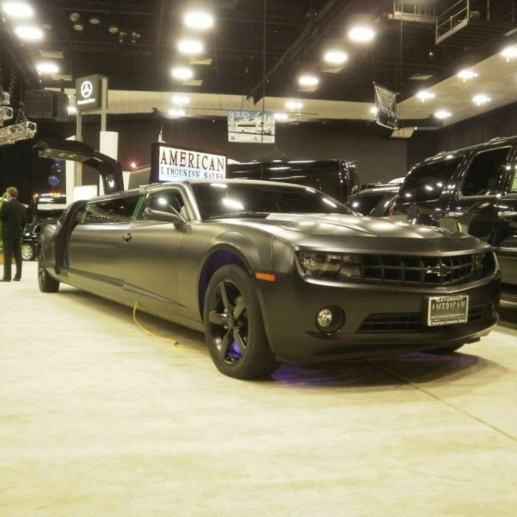 2011 black 140-inch chevy camaro limo
