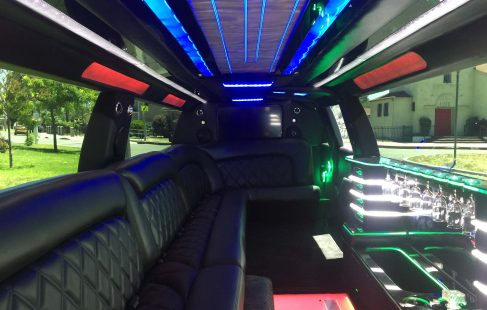 2016 black 220 chevy suburban jet door limousine ceiling