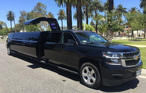 2016 black 220 chevy suburban jet door limousine for sale #2408