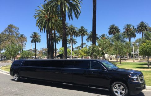 2016 black 220 chevy suburban jet door limousine for sale
