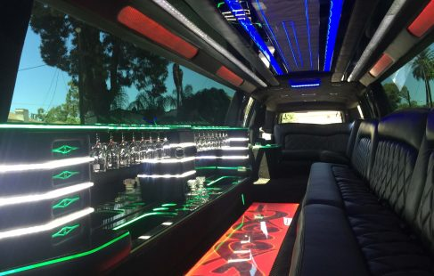2016 black 220 chevy suburban jet door limousine interior