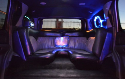 inside rear chevy limo