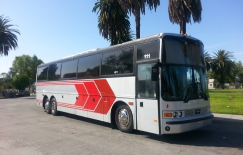 1995 silver vanhool party bus for sale