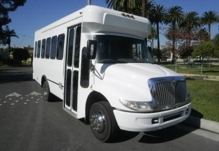 White International 24 passenger Party Bus
