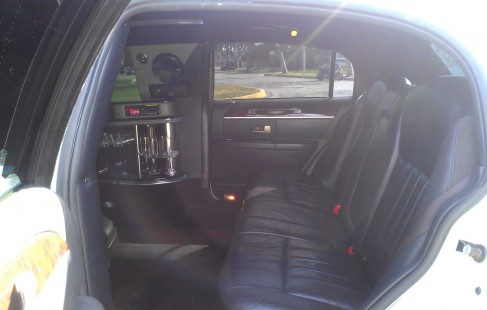 back seat 180-inch lincoln town car limo