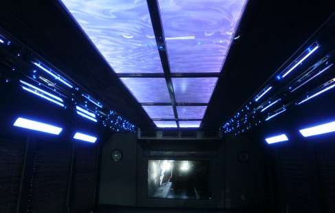 ceiling chevy g3500 party bus