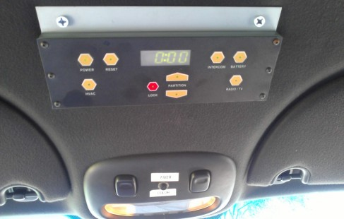 driver controls 180-inch lincoln town car limo