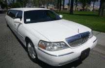 front white 120-inch lincoln limo