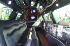 inside 180-inch lincoln town car limo