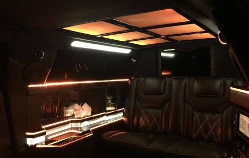 inside 70-inch chrysler limo
