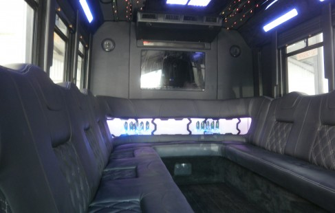 inside back chevy g3500 party bus