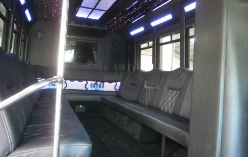inside chevy g3500 party bus