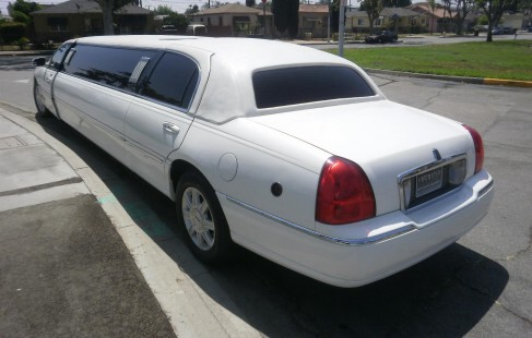 left rear lincoln limo