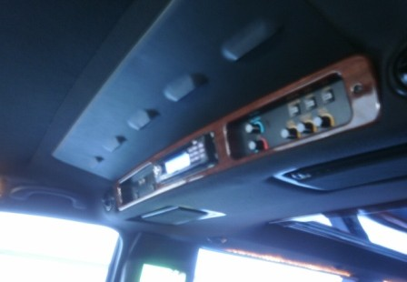 passenger controls town car limo
