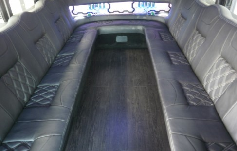 seating chevy g3500 party bus