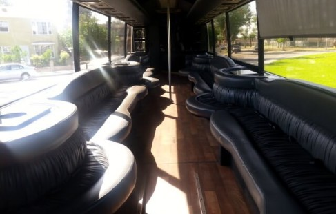 seating vanhool 50 passenger party bus