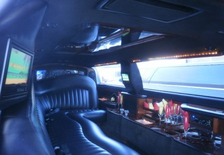 white lincoln town car limo for sale