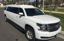 2015 white chevy tahoe 70-inch stretch suv limousine
