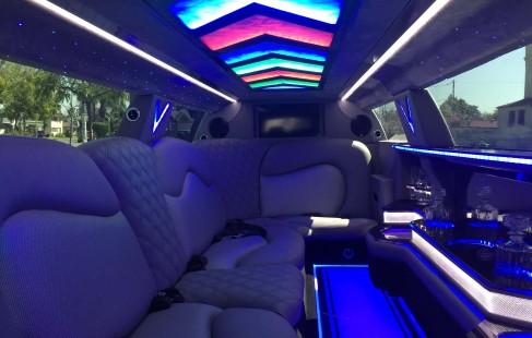 interior 2015 black 140-inch chrysler 300 limousine for sale #1206