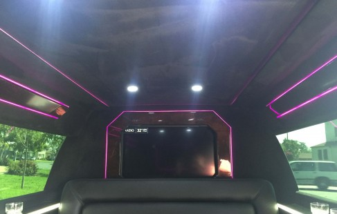 white chevy tahoe 70-inch stretch ceiling