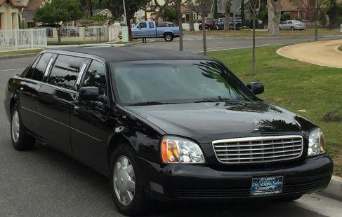 2005 black 72-inch cadillac deville limousine for sale 635