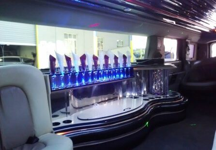 2006 white 200-inch coastal hummer h2 limousine for sale bar