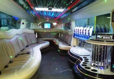 2006 white 200-inch coastal hummer h2 limousine for sale interior