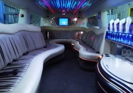 2006 white 200-inch coastal hummer h2 limousine for sale long view