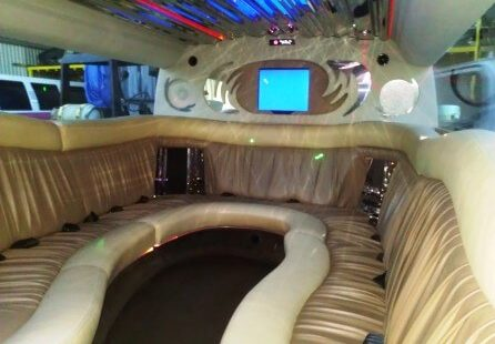 2006 white 200-inch coastal hummer h2 limousine for sale knee seating