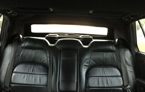 black 72-inch cadillac deville limousine for sale rear seating