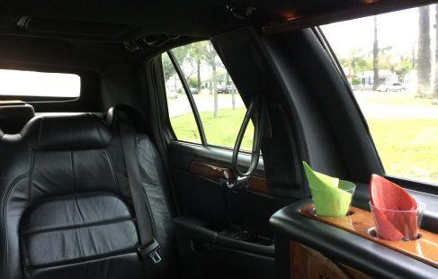 left side interior 72-inch cadillac deville limousine for sale 635