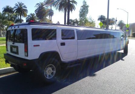 white 200-inch coastal hummer h2 limousine for sale