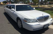 white 120-inch lincoln towncar limousine for sale 1007
