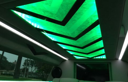 black 70-inch cadillac xts limousine ceiling