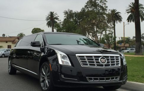 black 70-inch cadillac xts limousine for sale 620 right front