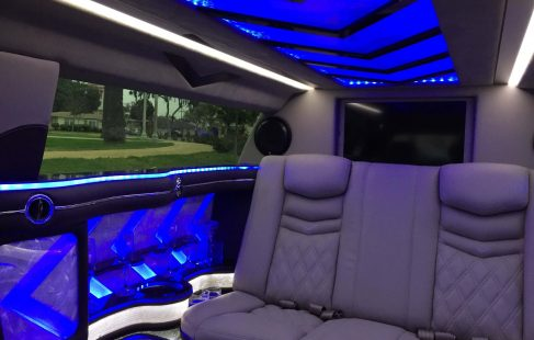 2014 black 70-inch cadillac xts limousine for sale 620 seating and bar