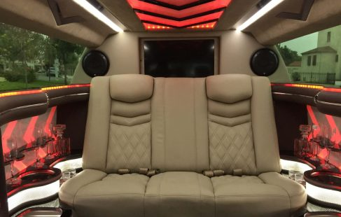 70-inch cadillac xts limousine for sale interior
