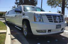 2007 white 165-inch chevy suburban escalade stretch suv