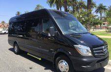 black mercedes benz 3500 sprinter luxury limo van for sale #1405