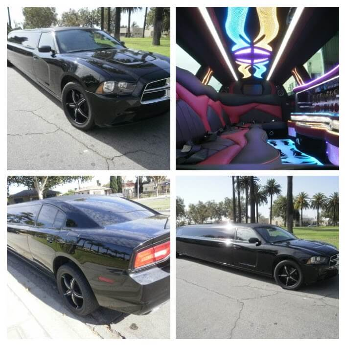 2012 Black 140-inch 12 passenger Dodge Charger limousine for sale #125402-COLLAGE