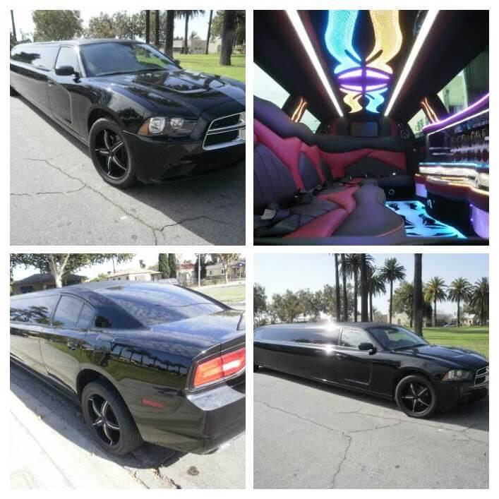 2012 Black 140-inch 12 passenger Dodge Charger limousine for sale #125402-COLLAGE