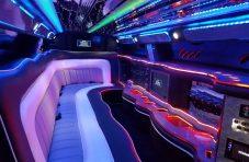 2015 white 140-inch chrysler 300 limousine interior