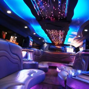 wedding limo lights
