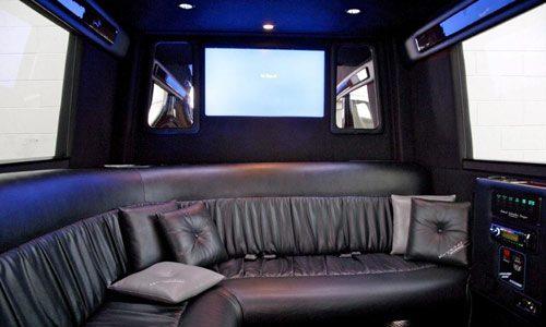 Top Limousine Entertainment Features back seat tv set