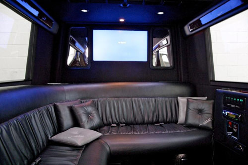 Top Limousine Entertainment Features back seat tv set