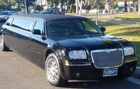 2007 black 120-inch chrysler 300 limousine for sale 1292