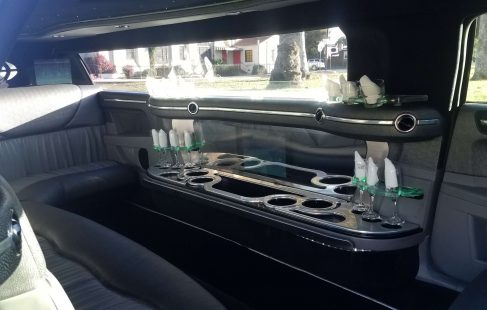2007 black 120-inch chrysler 300 limousine for sale bar
