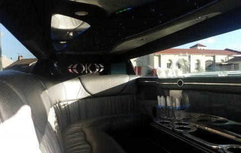 2007 black 120-inch chrysler 300 limousine for sale ceiling